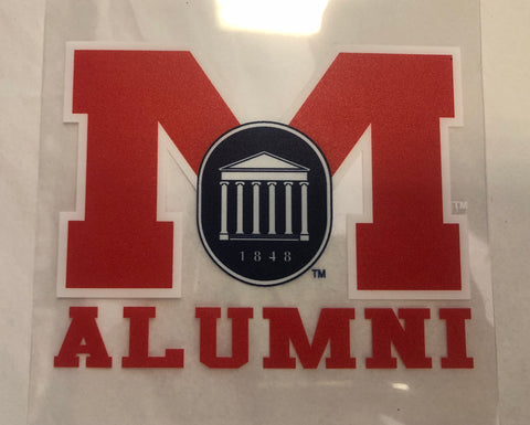 Red M Alumni Sticker