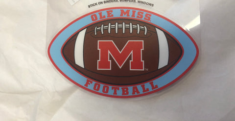 Powder Blue Ole Miss Football Decal