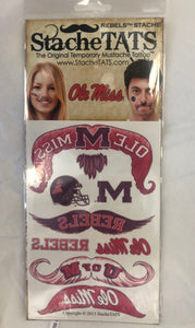 Ole Miss Mustache Tattoos