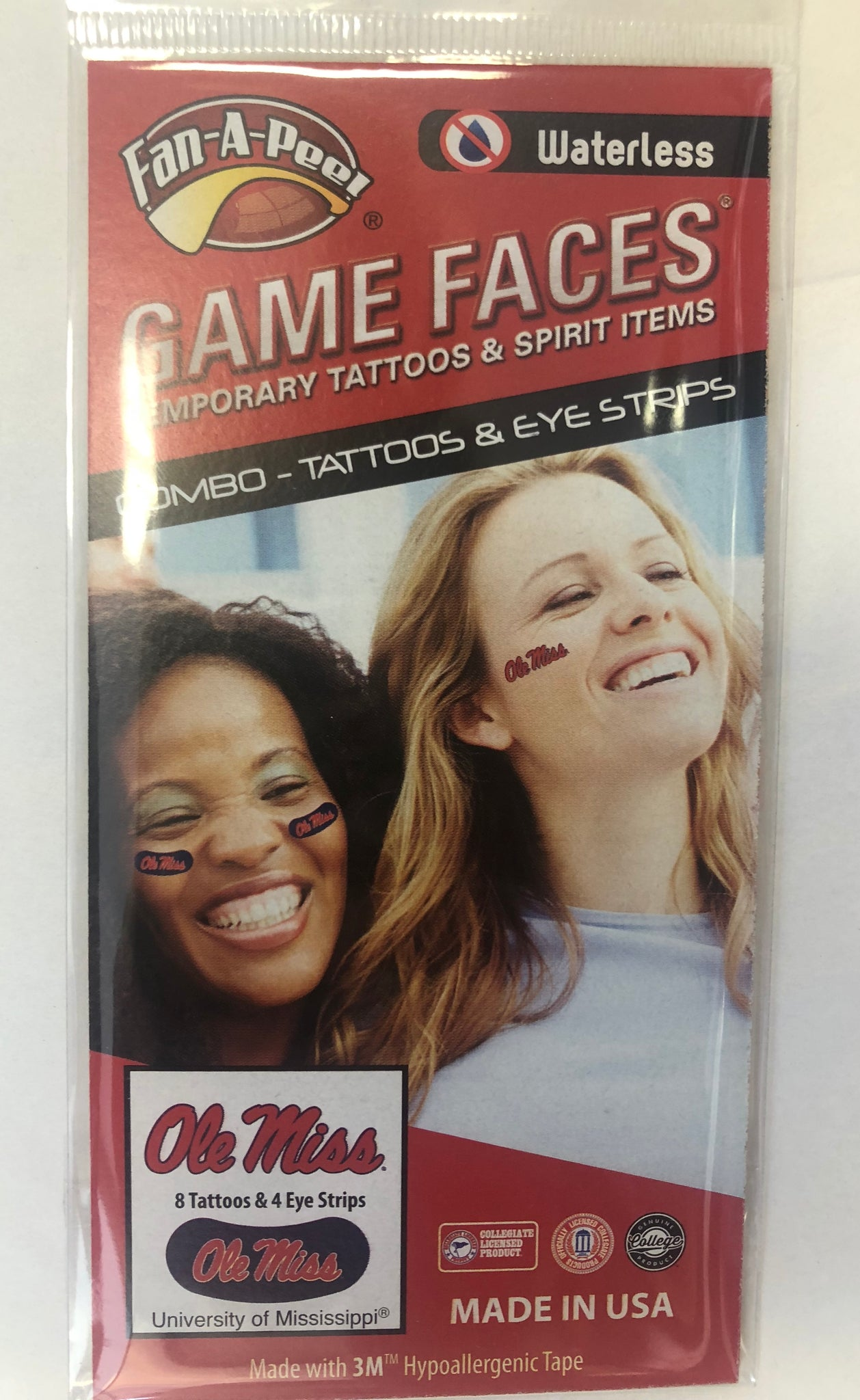 Ole Miss Tattoos & Eye Strips