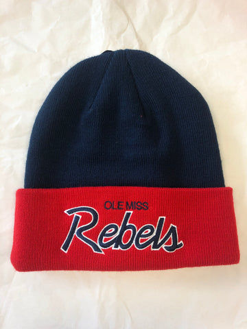 "Navy and Red ""Rebels"" Toboggan"