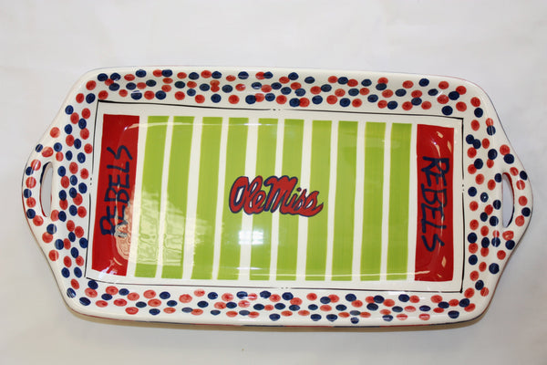 Rebels Football Field Tray