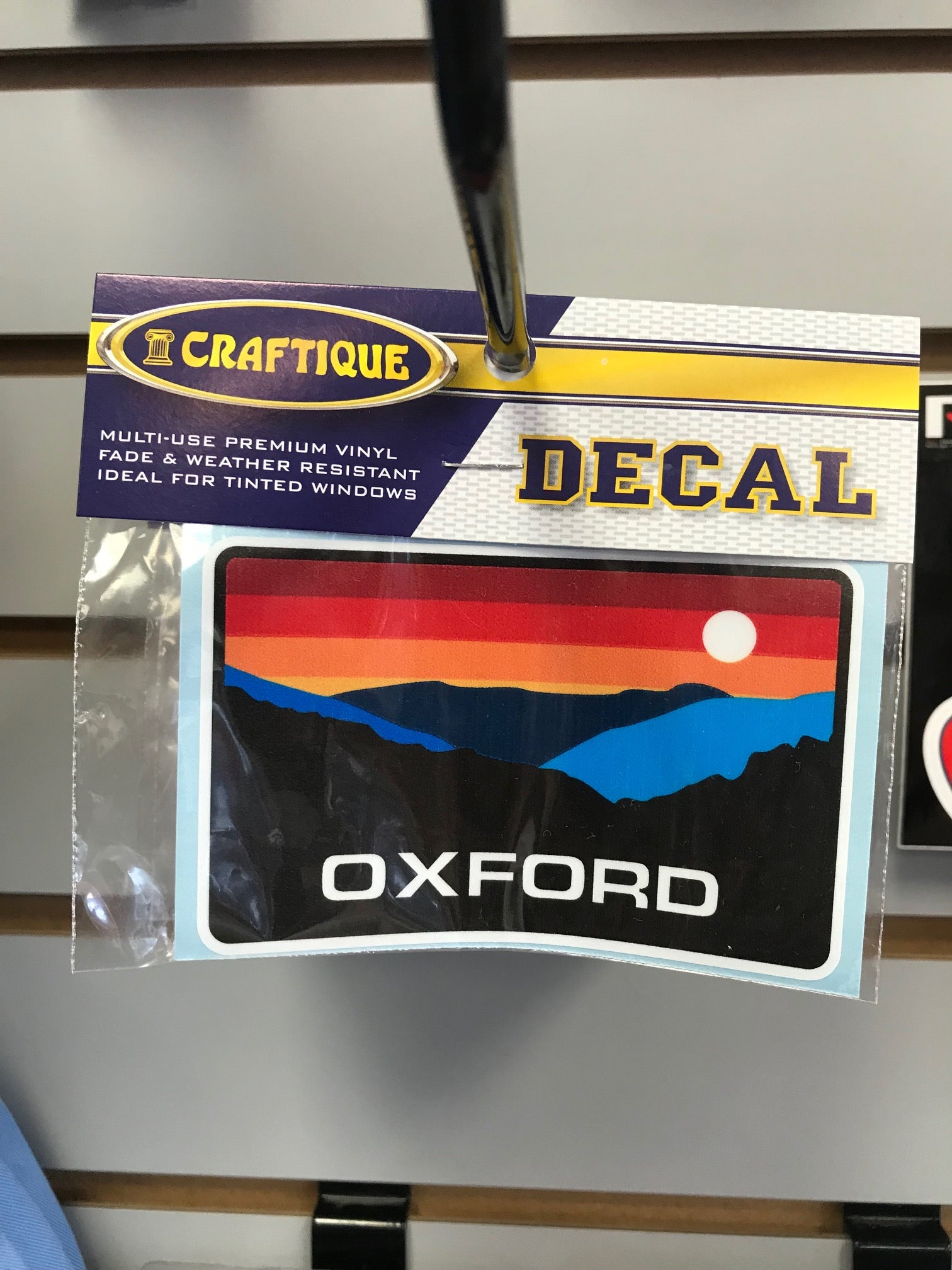 Oxford Patagonia style sticker