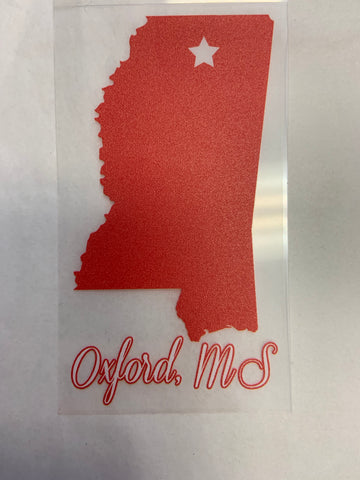 SMALL Red State Decal