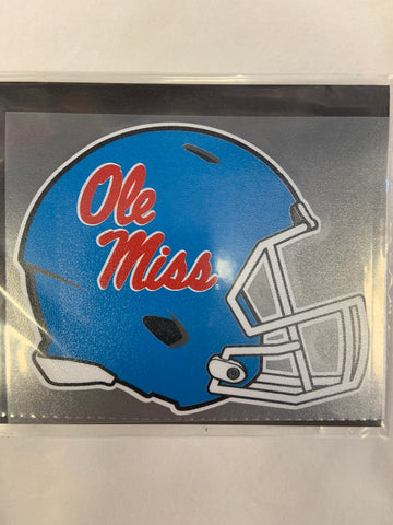 Baby Blue Ole Miss Helmet Decal