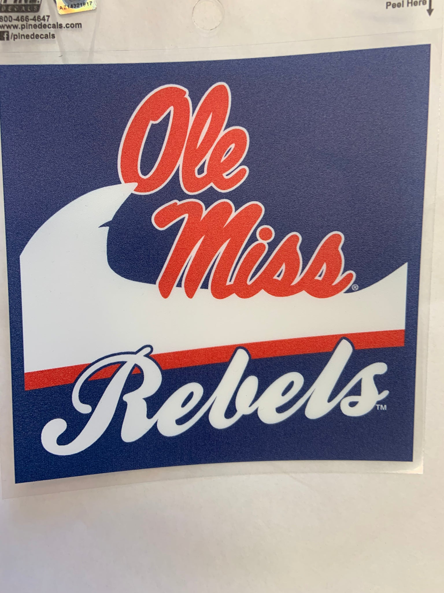 Script Ole Miss Rebels Wave Sticker