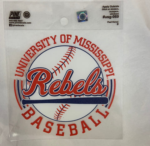 Rebels Baseball Decal