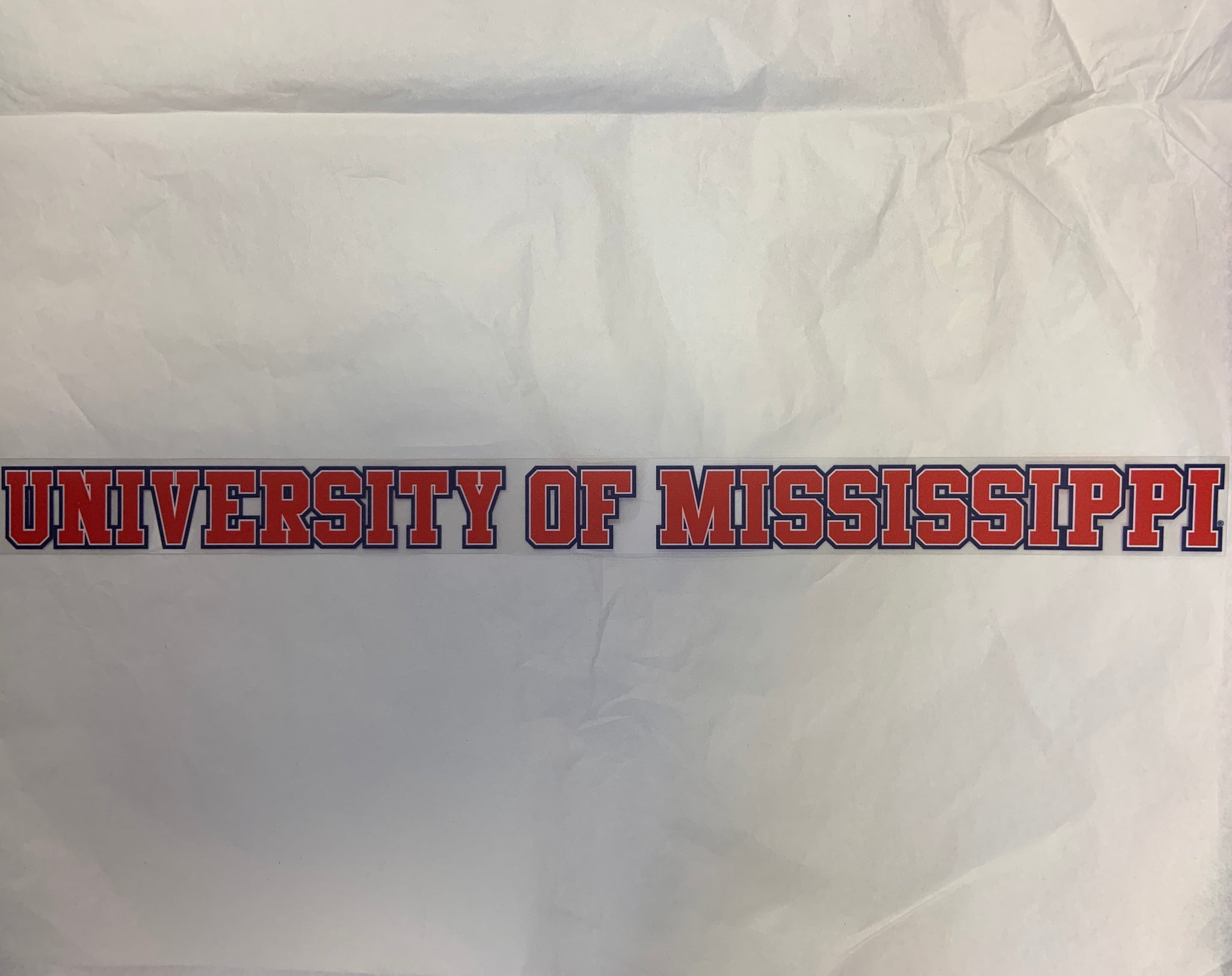 Long University of Mississippi Sticker