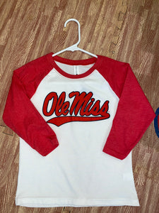 Youth 3/4 Sleeve Baseball Tee