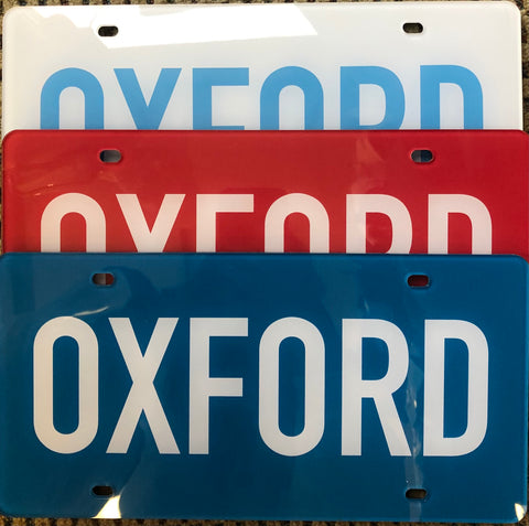 Oxford MS, Car Tags