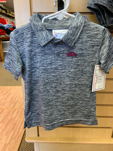Toddler Heather Grey Polo