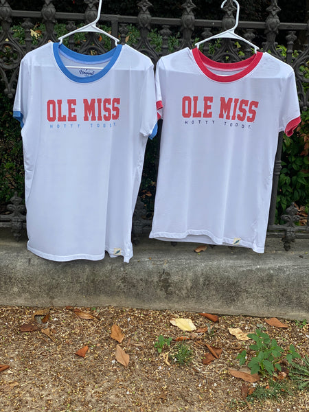 LEAGUE OLE MISS HOTTY TODDY RINGER TEE