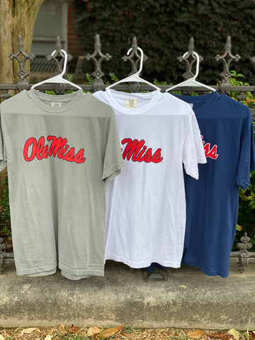 COMFORT COLORS OLE MISS TEE