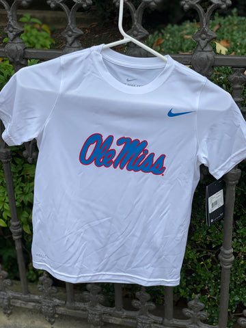 Youth Powder Blue/White Ole Miss T-shirt