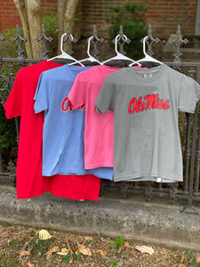 OLE MISS COMFORT COLORS YOUTH TEE