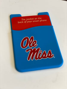 POWDER BLUE OLE MISS PHONE POCKET