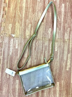Gold/Clear Crossbody Purse