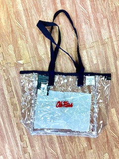 Navy/Clear Ole Miss Clear Tote