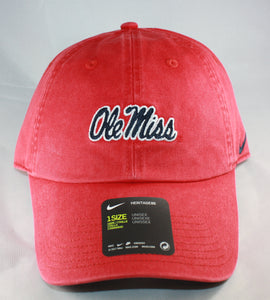Ole Miss Script Red Nike Hat