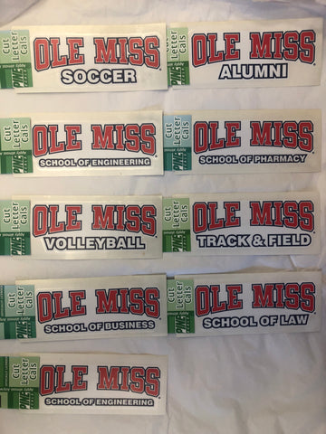 Ole Miss School & Sport Sticker