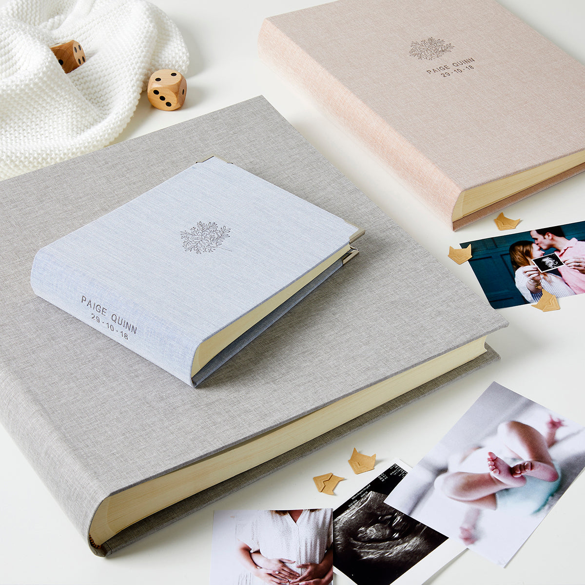Personalised Christening Tree Photo Album & Box