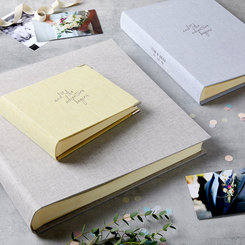 Personalised Wedding Adventure Photo Album & Box