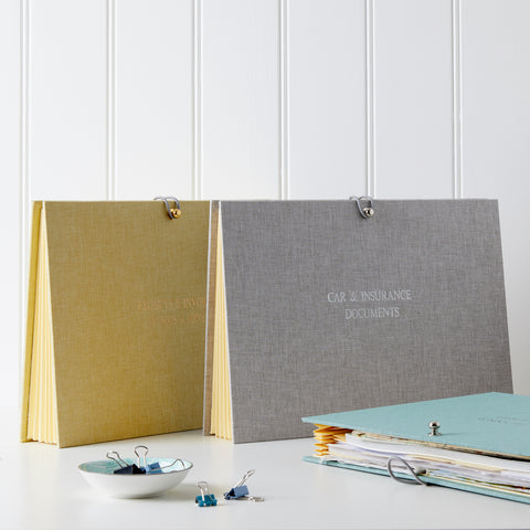 Fabric Concertina File Planner