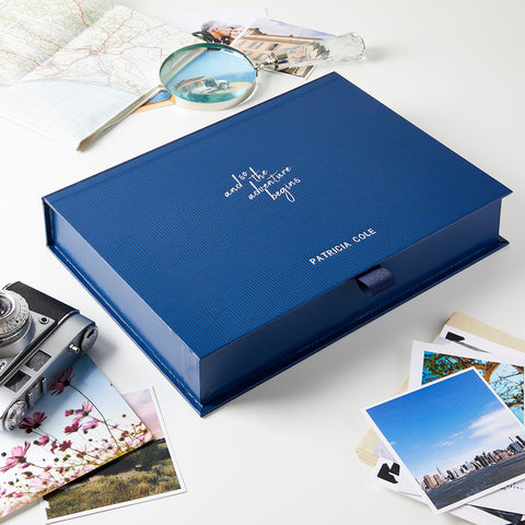 Personalised Adventure Retirement Memory Keepsake Box