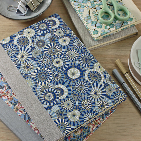 A range of Harris & Jones patterned journals.
