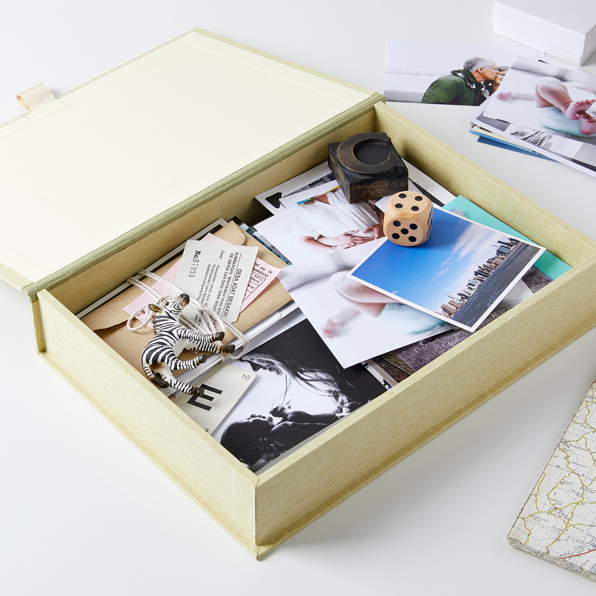Personalised Adventure New Baby Memory Keepsake Box