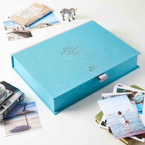 Personalised Adventure Travel Memory Keepsake Box