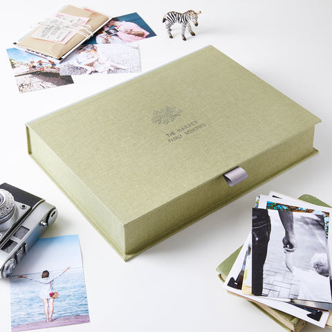 Personalised Family Tree Memory Keepsake Box