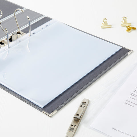 Glass Clear A4 Pockets / Wallets for Lever Arch, Portfolio & Ringbinder Files
