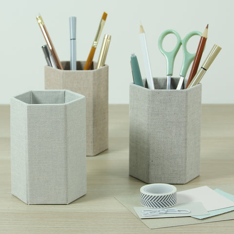Pen Pots - Natural Weaves