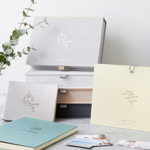 Personalised The Life & Times Of Photo Album & Box