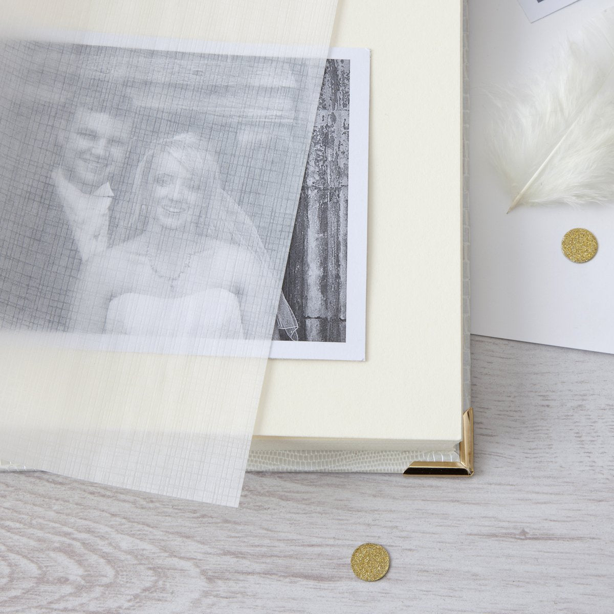 Personalised Wedding Floral Heart Initials Photo Album