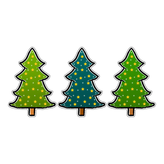 Christmas Tree Decal Sticker (3 Pack)