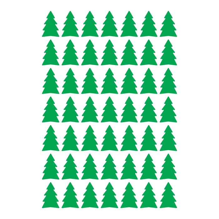 Christmas Tree Decal Sticker (49 Pack)
