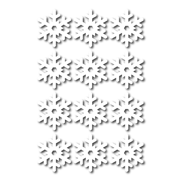 Christmas Snow Flake Decal Stickers (12 Pack)