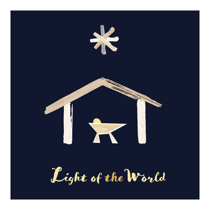 Light of the World Nativity Sign