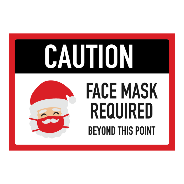 Santa Face Mask Required