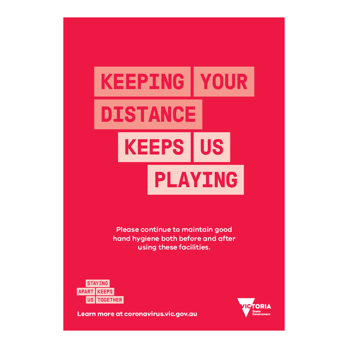Keep Your Distance Sports Poster VIC Health
