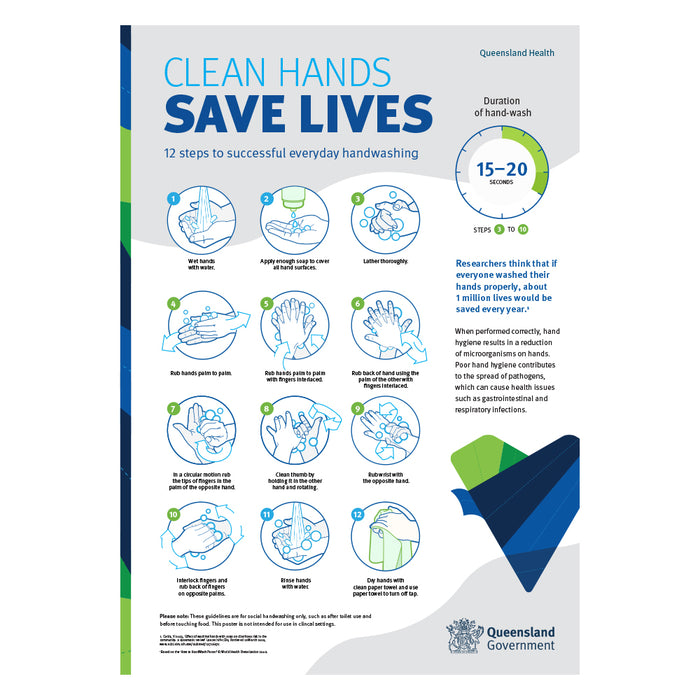 Clean Hands Save Lives QLD Health