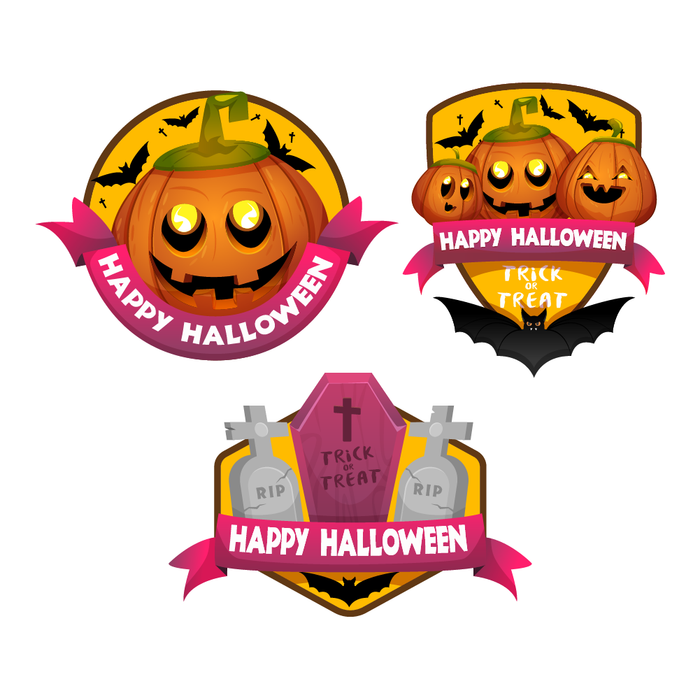 Happy Halloween Stickers (3 Pack)
