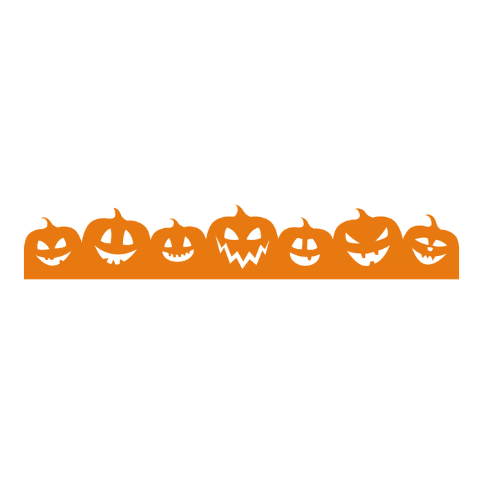 Halloween Orange Pumpkin Decal Sticker