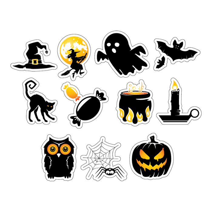 Mixed Halloween Decal Sticker (11 Pack)