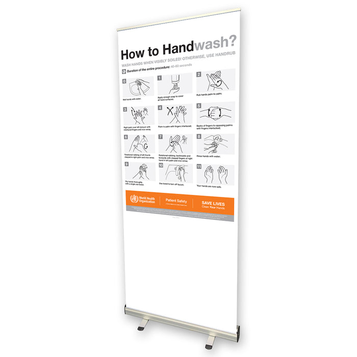 How to Hand Wash Pull Up Banner