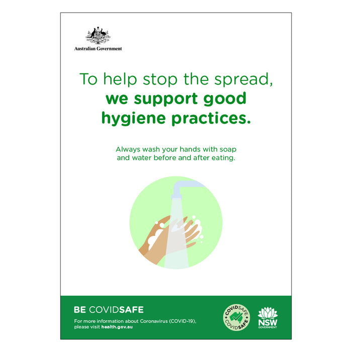 We Support Good Hygiene Practices