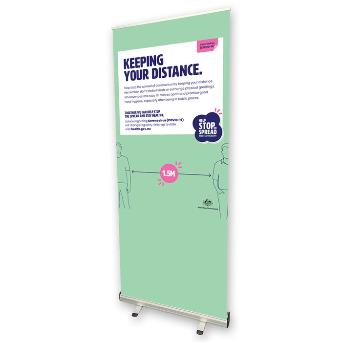 Keeping Your Distance Pull Up Banner
