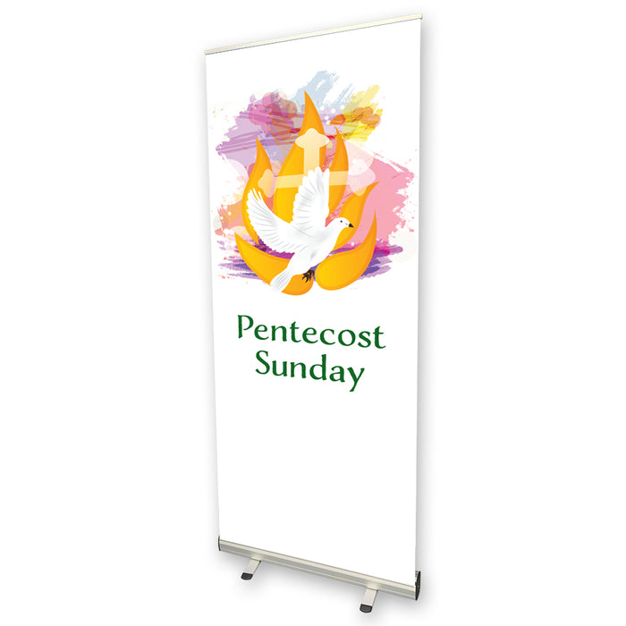 Pentecost Sunday Pull Up Banner